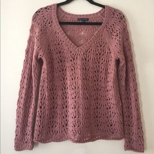 American Eagle Soft Rose Knitted Sweater